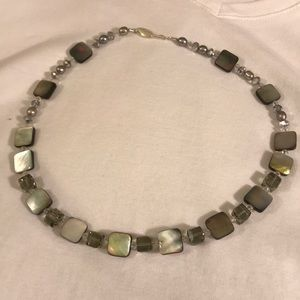 Stunning One of a Kind Mother of Pearl Necklace